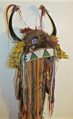 REPLICA BUFFALO SPLIT HORN HEADDRESS in Collectibles, Cultures & Ethnicities, Native American: US | eBay