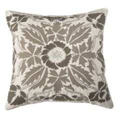 Rizzy Home Ivory And Square Pillow Cover