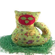 Toutou chaton, chaton pour bébé, cadeau pour bébé, jouet chat, jouet fait à la main, chat par créations Mabrisa