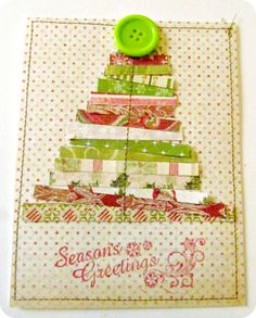 DIY Christmas Card, Rustic Christmas Tree, DIY holiday card