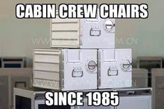 Cabin crew chairs!