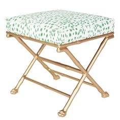 Faux Bamboo Footed X Stool http://www.shopsocietysocial.com/collections/new-arrivals/products/faux-bamboo-footed-x-stool
