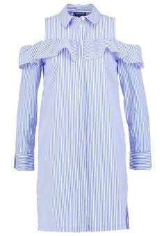 Topshop Sukienka koszulowa - lightblue za 215,2 zł (06.04.17) zamów bezpłatnie na Zalando.pl.