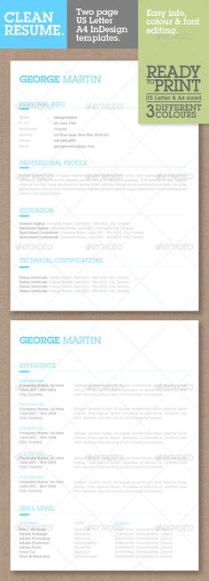 Resume Template, Resume cv and Simple resume template - different resume templates