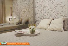 Apartamento decorado 2 quartos do Parque Florença no bairro Santa Mônica II - Feira de Santana - BA - MRV Engenharia - Quarto do Casal