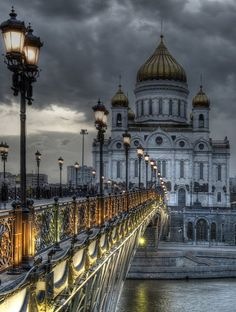 Moscow, Russia I love the view from the bridge. #travel  #moscow #cinderella