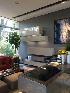 Sala de estar integrada a cozinha