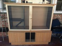 Ferret cage from an old entertainment center diy