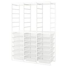 JONAXEL, with mesh baskets, 50x51x104 cm - IKEA Kallax Shelf Unit, Drawer Unit, Shelving Units, Ikea Storage, Storage Drawers, Office Storage, Clothes Rail Ikea, Ikea Drawers, Basket Drawers