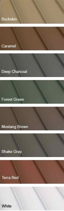 Clicklock Standing Seam Metal Roofing Colors. I Love The Green Or Red For  My Log