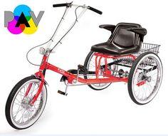 Worksman Personal Activity Vehicle 3-Speed Deluxe Semi Recumbant Tricycle