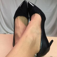 Nine West Black Leather & Suede Heels These shoes are Brand New/Never Worn and are in PERFECT Condition. The heel height of this shoe is 4 inches tall. Nine West Shoes Heels