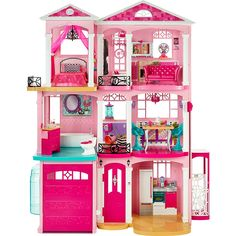 It's never too early to move into your Dreamhouse. Why wait for her to move into the house of her dreams? Choose & pick her favorite Barbie to place inside this dollhouse. With the Barbie® Dreamhouse®, girls can create and imagine anything! Dreamhouse Barbie, Barbie Doll House, Barbie Dream House, Mattel Barbie, Barbie Games, Barbie Life, Dream Doll, Grande Distribution, Dream House Interior