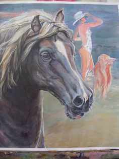 Movement, color, light (Deruta) -by Mara Diaconu. Mixed Media Artists, Horses, Study, Mix Media, Animals, Albums, Picasa, Studio, Animales