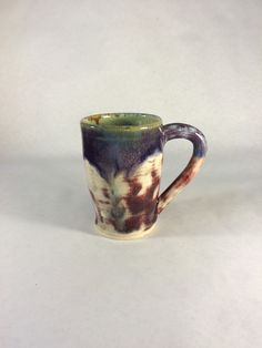 Ombre Gradient Green Purple Red Stoneware Mug by KatieTroisi on Etsy https://www.etsy.com/listing/258731628/ombre-gradient-green-purple-red