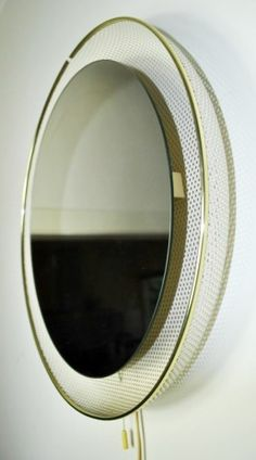 Pamono - backlit mirror attributed to Mathieu Mategot -Made by Artimeta Soest in the 1950's