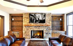 Stone Fireplaces With Tvs Design Ideas, Pictures, Remodel, and Decor - page 6