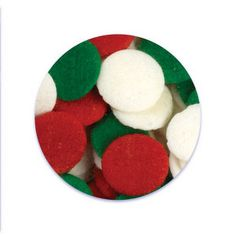 Jumbo Christmas Confetti Sprinkles Red, Green and White 1 Ounce Christmas Sprinkles, Red Green, Confetti, Cookies, Search, Desserts, Food, Crack Crackers, Tailgate Desserts