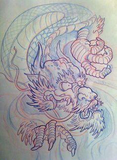 japanese dragon filler by michaelbrito on deviantART
