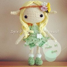 #amigurumi #spirit She is Spirit of the Forest