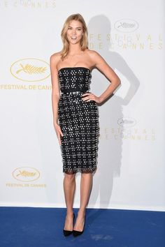 The best red carpet looks from the Cannes Film Festival. Celebrity Outfits, Celebrity Style, Karlie Kloss Street Style, Versace Dress, Red Carpet Looks, Cannes Film Festival, Bollywood Fashion, Dress To Impress, Strapless Dress Formal