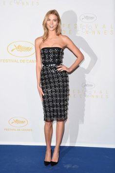 Cannes red carpet—Karlie Kloss in Versace
