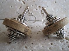 Upcycled Wine Bottle Cork Earrings with Pewter by ShimmerJewelry, $22.00