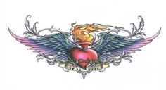 "True Love Flaming Heart with Wings Lower Back Temporary Body Art Tattoos 2.5"" x 4.25"" TMI, http://www.amazon.com/dp/B007RNIZM8/ref=cm_sw_r_pi_dp_nKTTpb0V8QDAA #tattoos #bodyart #bodypaint"