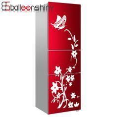 BalleenShiny Réfrigérateur Autocollant Papillon Motif Stickers Muraux Décor À La Maison Cuisine Vinyle Fleur Blanc Noir Haute Qualité dans Stickers muraux de Maison & Jardin sur AliExpress.com | Alibaba Group