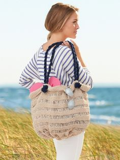 Lily Sugar 'n Cream Sea Breeze Bag - The essential chic DIY #beach tote #summerstyle