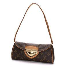 Louis Vuitton Pochette Beverly Monogram Handle bags Brown Canvas M40122