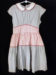 RARE DEADSTOCK 1940'S GIRLS CANDYSTRIPE DRESS