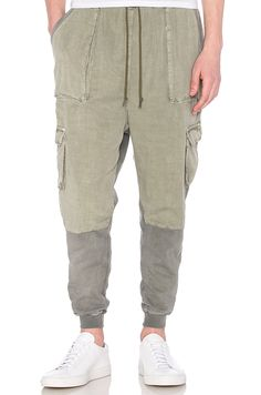JOHN ELLIOTT Safari Sweat in Washed Olive