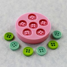 Button Mold Flexible Silicone Mould 12mm for Crafts by MoldMuse, $6.50