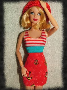 ★new★ Mattel Fashionista Fashion Sea Dress So Cute Barbie Doll Clothes | eBay
