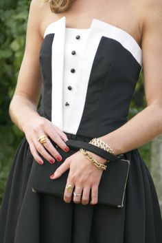 The girly tuxedo!  Cute, formal, fun :)                                                                                                                                                                                 More