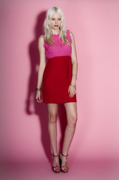 Belle & Bunty Drama Dress ~ Red & Pink