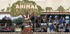 Disney Layout Scrapbook Animal Kingdom | Animal kingdom