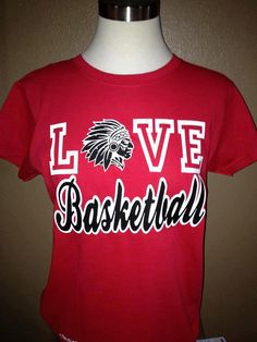 LOVE Basketball T shirt  All colors and mascots avaliable!!