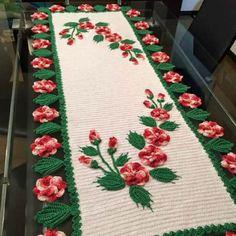 Caminho de mesa de crochê: 51 ideias para decorar sua casa