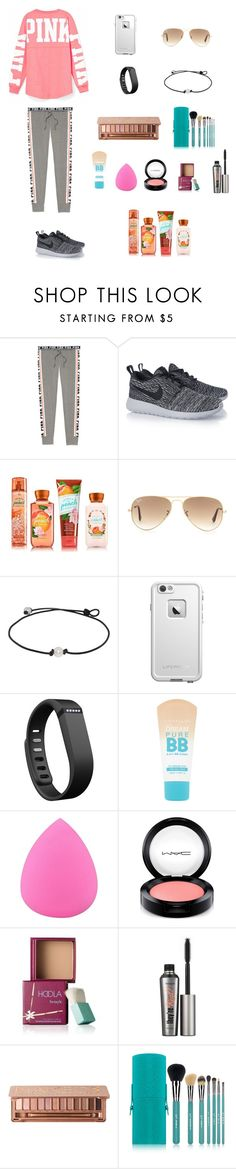 """""""Coming home from trip and have soccer tryouts"""" by soccer-tumblr ❤ liked on Polyvore featuring Victoria's Secret, NIKE, Ray-Ban, LifeProof, Fitbit, Maybelline, Zodaca, MAC Cosmetics, Benefit and Urban Decay"""