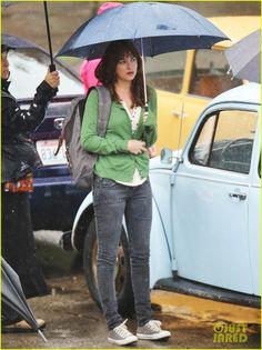 Dakota Johnson Revisits Anastasia for 'Fifty Shades of Grey' Reshoots in the Rain!