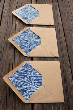 Patterned Envelope Liner on Behance