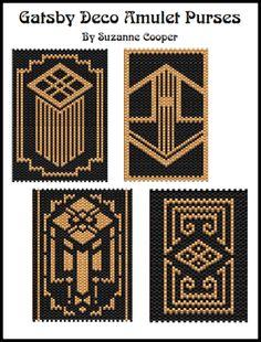 Gatsby Deco Amulet Purses (4) Patterns