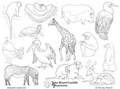 https://hu.pinterest.com/eddieduckling/colouring-pages-shop/Animals at Munich Zoo poster and colouring page - with a free download. Poster: $7