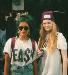 womens streetwear blue hair, beanies and tees  Camden