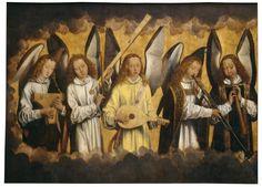 Hans Memling: 'Christ with singing and music-making Angels', KMSKA, Antwerp