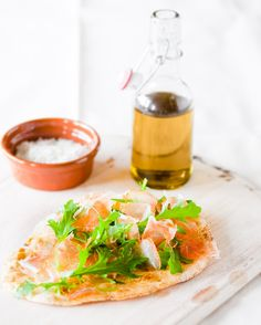 Yum! (Although I think the olive oil and salt in the background may be equally, if not more, attractive then the flat bread itself)