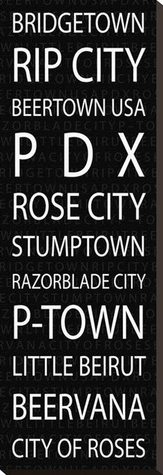 Portland Oregon Nicknames on Canvas.grew up in Beaverton, moved to Wilsonville, then Sherwood and now reside in NEWBERG! State Of Oregon, Oregon Usa, Portland Oregon, Moving To Portland, Visit Portland, Canoe Rental, Oregon Living, Bridgetown, Oregon Washington