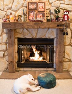 Reclaimed Fireplace Mantel | Rustic Fireplace Mantels | Ohio Mantel